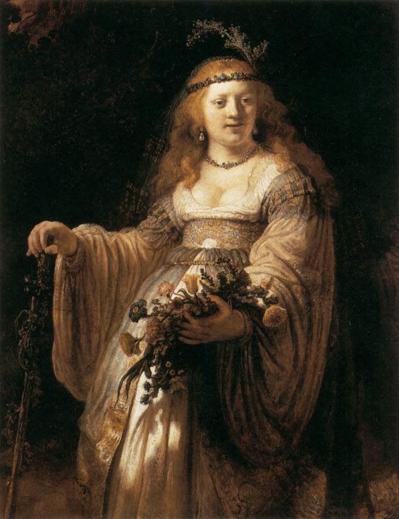 Rembrandt - Saskia van Uylenburgh in Arcadian Costume - WGA19164