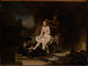 Bathsheba at Her Bath (Rembrandt) - Rembrandt, The Toilet of Bathsheba, 1643, Metropolitan Museum of Art.