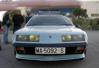 Alpine A310 - Front view of Alpine A310 V6 (1976-1980)