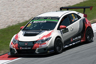 TCR International Series - A 2015 spec Honda Civic TCR in the TCR International Series.
