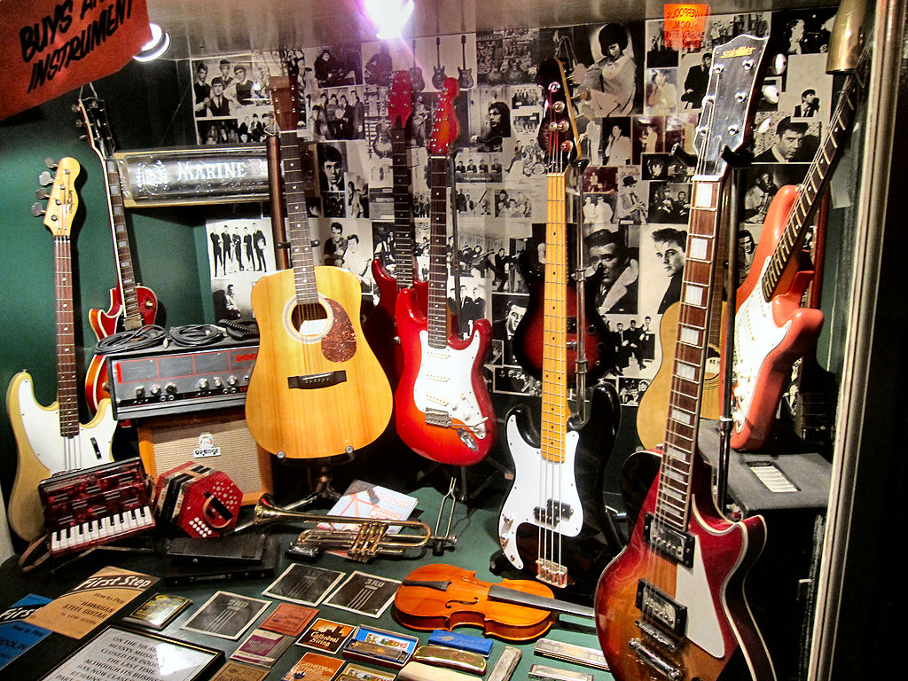 File Replica Of Music Store Front Window Where The Beatles