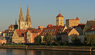 Regensburg Place in Bavaria, Germany