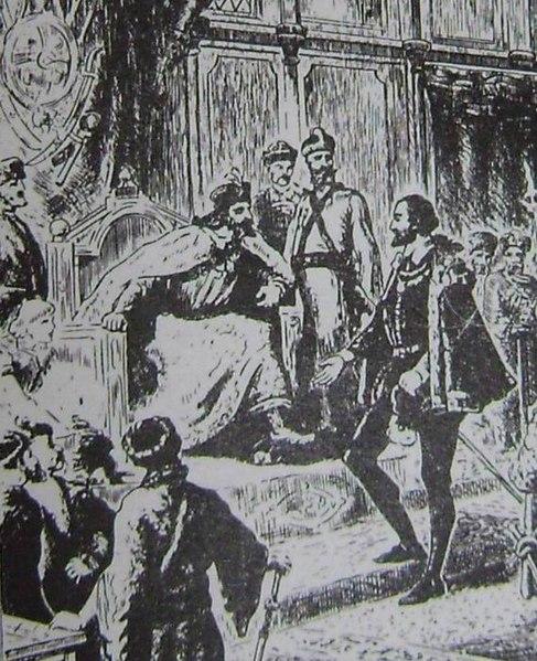 Картинки по запросу Фрагмент старинной гравюры. Ричард Ченслер на приёме у Ивана Грозного