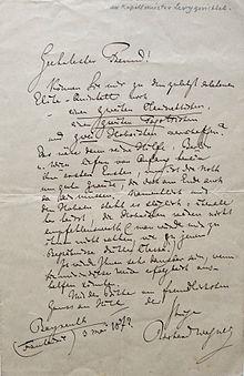 Richard Wagner an Hermann Levi, Bayreuth, 3. Mai 1872 (Quelle: Wikimedia)
