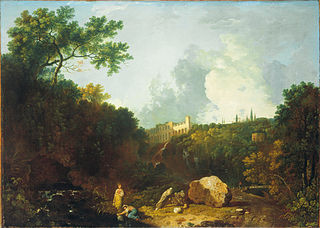 Distant View of Maecenas' Villa, Tivoli