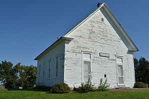 National Register of Historic Places listings in Ray County, Missouri - Image: Richmond MO.New Hope Primitive Baptist Church.Front and North Side