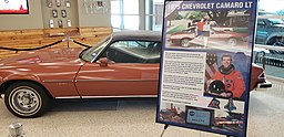 Rick Husband's Camaro on display at Rick Husband Amarillo International Airport