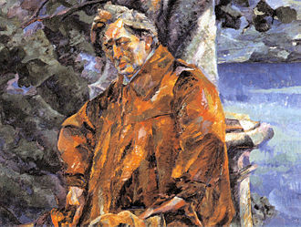 Ferruccio Busoni - Portrait of Busoni by Umberto Boccioni, 1916 (in the collection of the Galleria Nazionale d'Arte Moderna, Rome)
