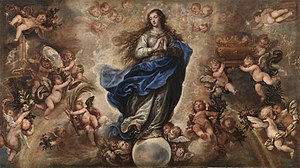 Feast of the Immaculate Conception - Mary's holy and immaculate conception, by Francisco Rizi, Museo del Prado, 17th-century, Oil on canvas.