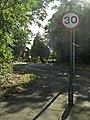 Road sign at beginning of Lakeside, Enfield - geograph.org.uk - 991844.jpg