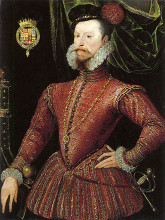 Lettice Knollys - Robert Dudley, Earl of Leicester, 1575, aged about 43