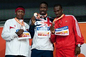 2010 IAAF World Indoor Championships – Men's 60 metres - Rodgers, Chambers, and Bailey made up the 60 m podium in 2010