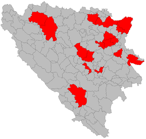 Romani people in Bosnia and Herzegovina - Municipalities with a significant Romani minority