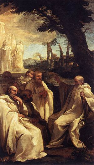 Andrea Sacchi - Vision of St. Romuald