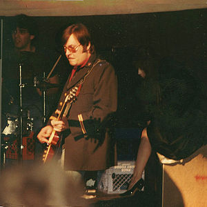 Ron Asheton - Asheton, Niagara and unidentified drummer, Destroy All Monsters, Ann Arbor, Michigan, USA, Spring of 1982
