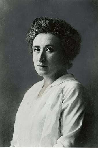 Rosa Luxemburg, prominent Marxist revolutionary, leader of the Social Democratic Party of Germany and martyr and leader of the German Spartacist uprising in 1919 Rosa Luxemburg.jpg