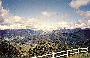 Springbrook, Queensland - Springbrook Plateau (left of image)