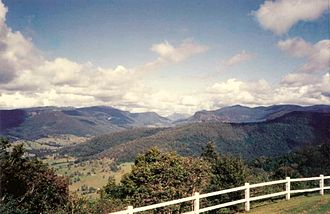 Scenic Rim - Numinbah Valley and surrounding plateaus form part of the eastern rim.