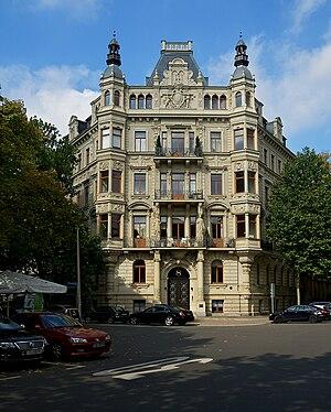 Arwed Roßbach - dwelling house, so-called Roßbach-Haus, Leipzig