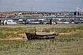 Rotting boat, Shoreham-by-Sea harbour, River Adur, West Sussex, England.jpg