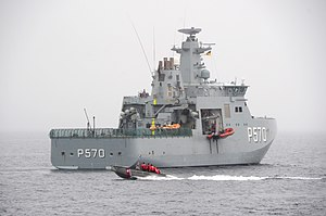Royal Danish Naval Vessel Knud Rasmussen participates in Operation Nanook 2010.