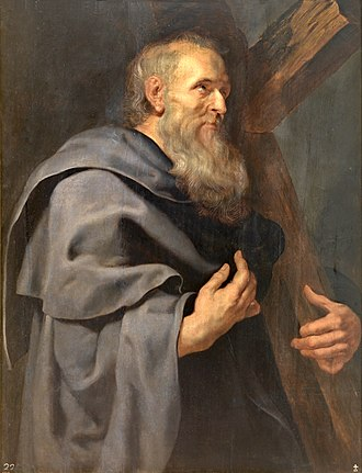 Philip the Apostle - St. Philip, by Peter Paul Rubens, from his Twelve Apostles series (c. 1611), at the Museo del Prado, Madrid