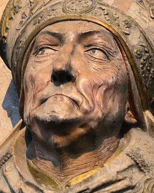 Rudolf von Scherenberg - Detail of face from tomb.