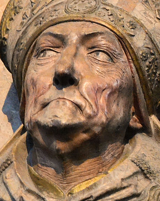 Rudolf von Scherenberg - Detail of face from tomb.