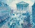 Rue Royale, Paris, Rain by Frank Milton Armington, 1925.jpg