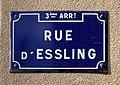 Rue d'Essling (Lyon) - février 2019 - plaque de rue.jpg