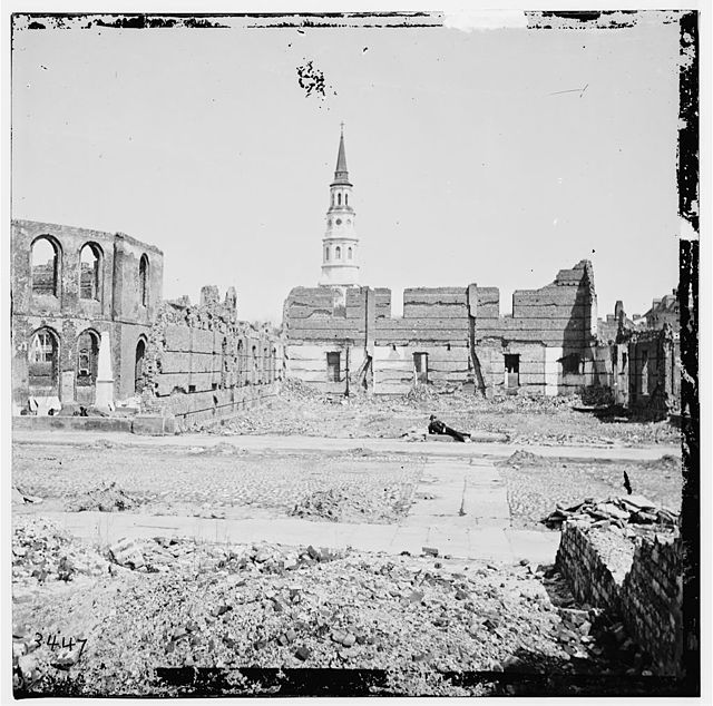 Ruins Secession Hall Charleston 1865