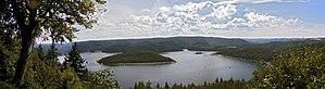 Rur Dam - Blick auf den Rursee von Schmidt