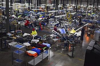 39aeb90bc RushOrderTees' custom t-shirt design and printing facility in Philadelphia,  Pennsylvania.