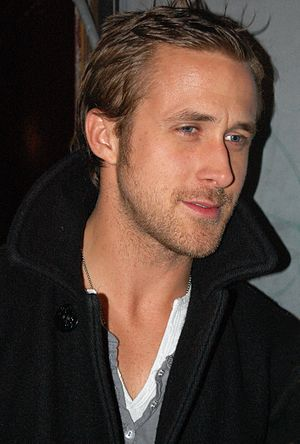 English: Ryan Gosling outside a concert for hi...
