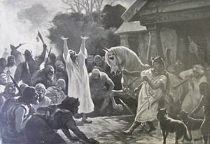 Svetovid - The prophecy before the battle, Józef Ryszkiewicz, 1890