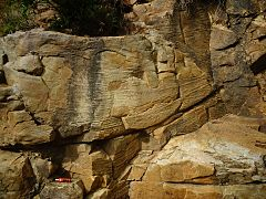 Sáchica rock shelter - Cross-bedded sandstone - Arcabuco Formation.jpg