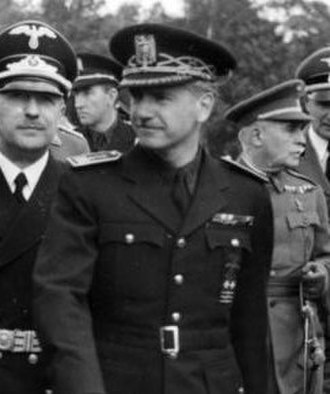 Ramón Serrano Suñer -  Ramón Serrano Suñer, during a visit to the headquarters of the ''Leibstandarte SS Adolf Hitler'' in October, 1940