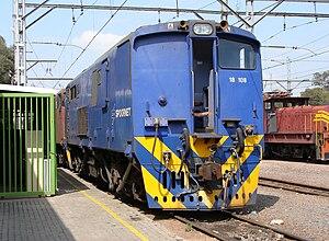 South African Class 6E1, Series 10 - Cab 1 of Class 18E no. 18-108, ex Class 6E1 no. E2114, Capital Park, 1 October 2009