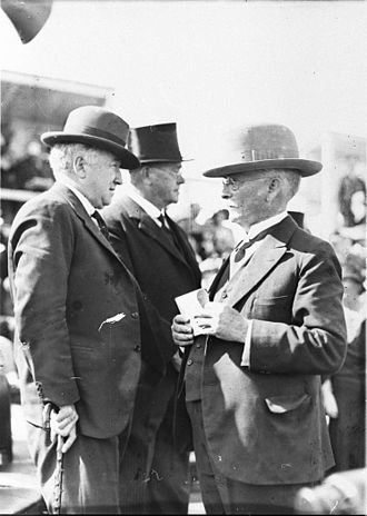 Joseph Lyons -  Prime Minister Joe Lyons and J J C Bradfield