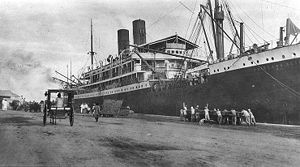 USS Princess Matoika - SS Princess Alice is pictured during her internment at Cebu, Philippines, c. 1914–1916.