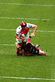 ST vs RCT - December 2011 - Fritz tackles Giteau 2.JPG
