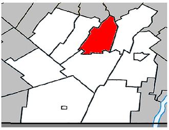 Saint-Édouard, Quebec - Image: Saint Édouard Quebec location diagram