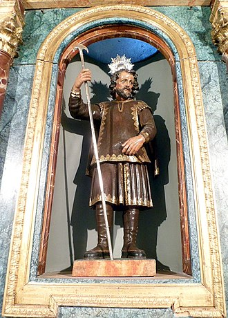 Isidore the Laborer - This is in the chapel built where he lived and died, in the Saint Isidore Museum in Saint Andrew's square in Madrid.