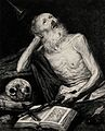 Saint Jerome. Etching by B. Maura, 1874, after A. de Pereda, Wellcome V0032316.jpg