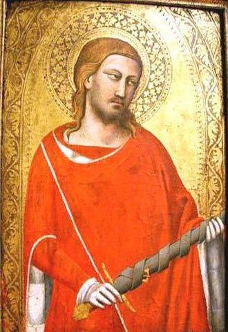 Julian the Hospitaller - Saint Julian. Taddeo Gaddi, 14th century.