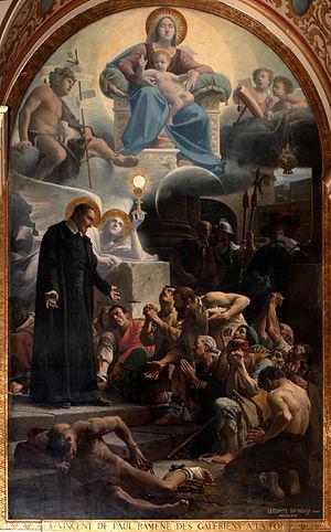 Jean-Jules-Antoine Lecomte du Nouÿ - Image: Saint Vincent de Paul ramene des galériens à la foi Lecomte de Nouy