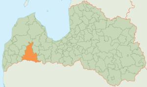 Saldus Municipality - Image: Saldus novada karte