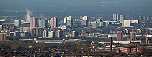 Greater Manchester Built-up Area - Skyline of Salford.