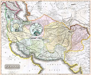 "Salmas - Salmas in 1814 Thomson Map of the ""Persian Empire"" at the Time of Qajar Dynasty • Modified by Hassan Jahangiri"
