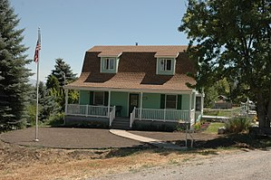 National Register of Historic Places listings in Cache County, Utah - Image: Samuel Baker House Mendon Utah
